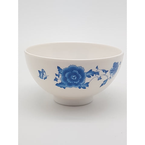TB5045 - Simple Blue Flower Plastic Bowl ~4.5 inches- TBD Pieces / 1 Box - New Eastland Pty Ltd - Asian food wholesalers