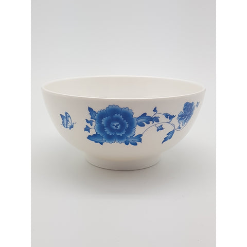 TB506- Simple Blue Flower Plastic Bowl ~6 inches- TBD Pieces / 1 Box - New Eastland Pty Ltd - Asian food wholesalers