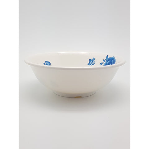 TB5072 - Simple Blue Flower Plastic Soup Bowl ~7 inches - TBD Pieces / 1 Box - New Eastland Pty Ltd - Asian food wholesalers
