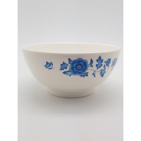 TB507 - Simple Blue Flower Plastic Bowl ~7 inches- TBD Pieces / 1 Box - New Eastland Pty Ltd - Asian food wholesalers