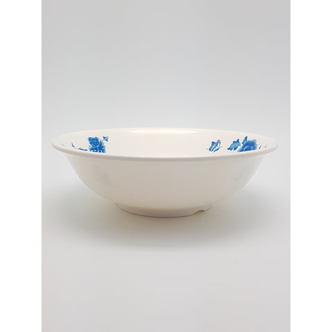 TB508B/509B - Simple Blue Flower Plastic Soup Bowl 8 - 9 inches - New Eastland Pty Ltd - Asian food wholesalers