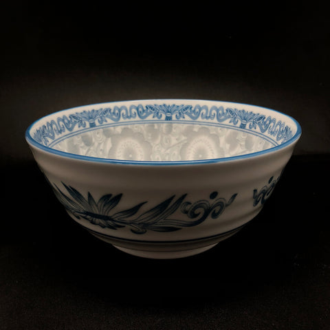 TBBLTA1729 -  Blue and grey design 7 inch Bowl - New Eastland Pty Ltd - Asian food wholesalers