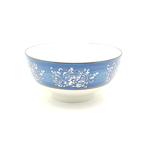 TBBTC001- Blue Thorns Ceramic Bowl ~ 6 Inches - TBD Pieces  / 1 Box - New Eastland Pty Ltd - Asian food wholesalers