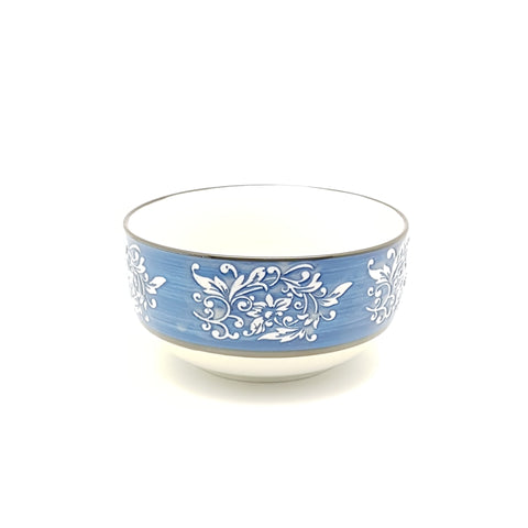 TBBTC002 -  Blue thorns ceramic Bowl ~ 4.5 Inches - TBD Pieces  / 1 Box - New Eastland Pty Ltd - Asian food wholesalers