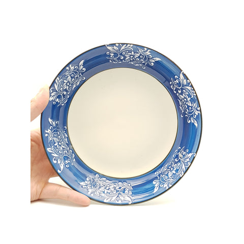 TBBTC003 - Blue Thorns Ceramic Plate ~ 8 Inches - TBD Pieces  / 1 Box - New Eastland Pty Ltd - Asian food wholesalers