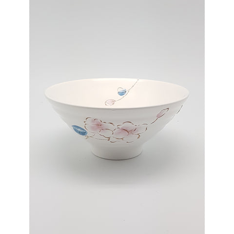 TBCPC001 - Chinese Pink and Blue Flower Ceramic Rice Bowl ~9 inches - TBD Pieces / 1 Box - New Eastland Pty Ltd - Asian food wholesalers