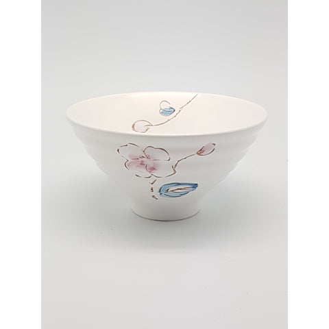 TBCPC003 - Chinese Pink and Blue Flower Ceramic Rice Bowl ~5 inches- TBD Pieces / 1 Box - New Eastland Pty Ltd - Asian food wholesalers