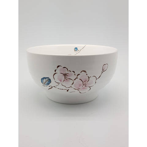 TBCPC006 - Chinese Pink and Blue Flower Ceramic Bowl ~6.5 inches - TBD Pieces / 1 Box - New Eastland Pty Ltd - Asian food wholesalers
