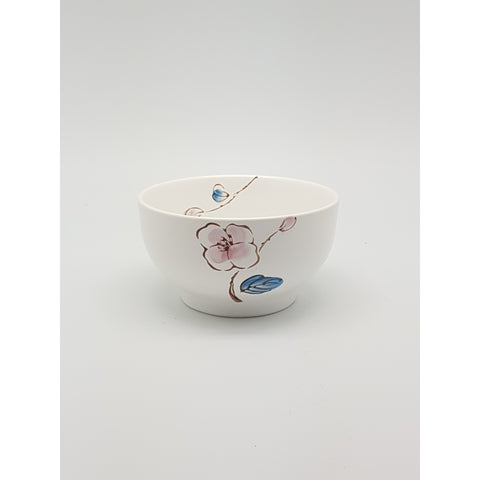 TBCPC007 - Chinese Pink and Blue Flower Ceramic Bowl ~4.5 inches - TBD Pieces / 1 Box - New Eastland Pty Ltd - Asian food wholesalers