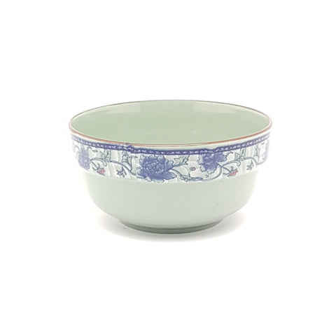 TBF014 - Dark Cyan/Blue Rose Ceramic Bowl ~4 inches - 12 Pieces  / 1 Box - New Eastland Pty Ltd - Asian food wholesalers