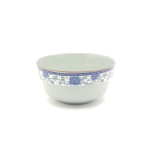 TBF015 - Dark Cyan/Blue Rose Ceramic Soup Bowl ~5 inches - 12 Pieces  / 1 Box - New Eastland Pty Ltd - Asian food wholesalers