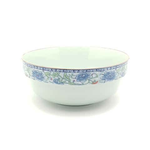 TBF018 - Dark Cyan/Blue Rose Ceramic Bowl ~8 inches - 6 Pieces  / 1 Box - New Eastland Pty Ltd - Asian food wholesalers