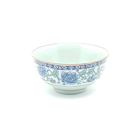TBF04K - Dark Cyan/Blue Rose Ceramic Small Bowl ~4 inches - 12 Pieces  / 1 Box - New Eastland Pty Ltd - Asian food wholesalers