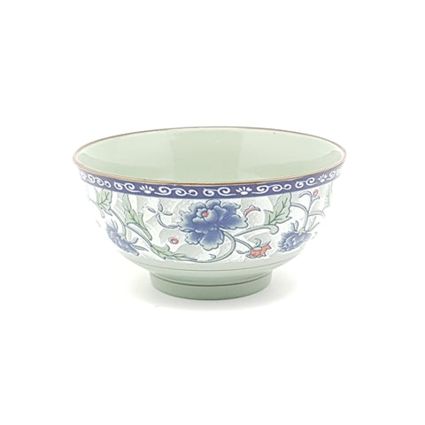 TBF05.5- Dark Cyan/Blue Rose Ceramic Bowl ~5.5 inches - 12 Pieces  / 1 Box - New Eastland Pty Ltd - Asian food wholesalers