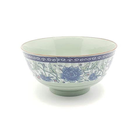 TBF06 - Dark Cyan/Blue Rose Ceramic Bowl ~6 inches - 6 Pieces  / 1 Box - New Eastland Pty Ltd - Asian food wholesalers