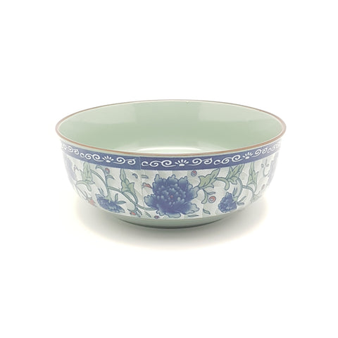 TBF07N- Dark Cyan/Blue Rose Ceramic Bowl ~7 inches - 6 Pieces  / 1 Box - New Eastland Pty Ltd - Asian food wholesalers