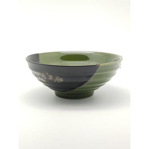 TBG07/08/09 - Green and Charcoal with Flower Bowl 7.5 - 10 Inches - New Eastland Pty Ltd - Asian food wholesalers
