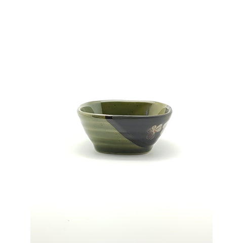 TBGQ4 - Green and Charcoal with Square sauce bowl ~4 Inches - 12 pcs  / 1 Box - New Eastland Pty Ltd - Asian food wholesalers