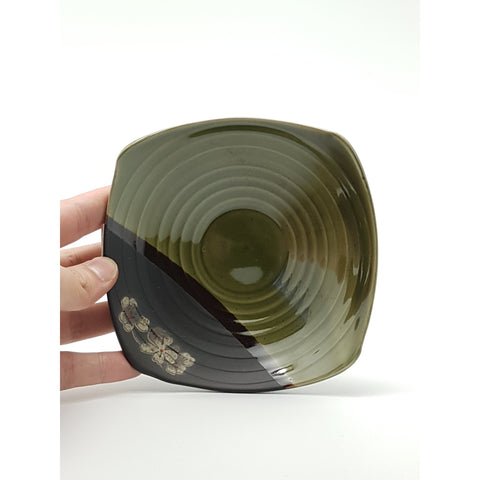 TBGS06/08 - Green and Charcoal with Square Plate 5.5 - 7 Inches - New Eastland Pty Ltd - Asian food wholesalers