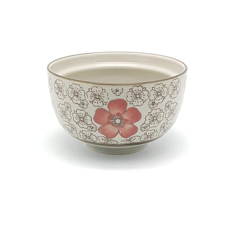 TBH04L - Green Ceramics with Red Flowers Bowl - New Eastland Pty Ltd - Asian food wholesalers