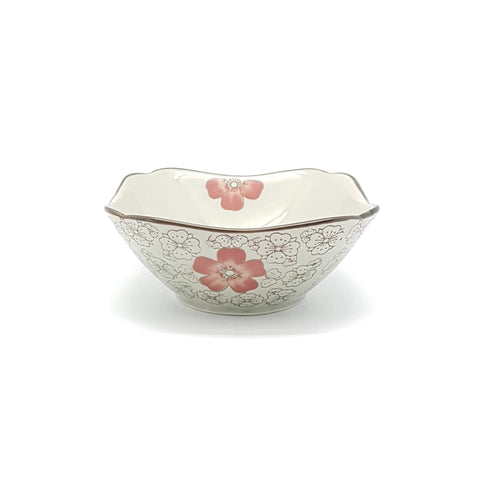 TBH06C- Green Ceramics with Red Flower Side Bowl - New Eastland Pty Ltd - Asian food wholesalers