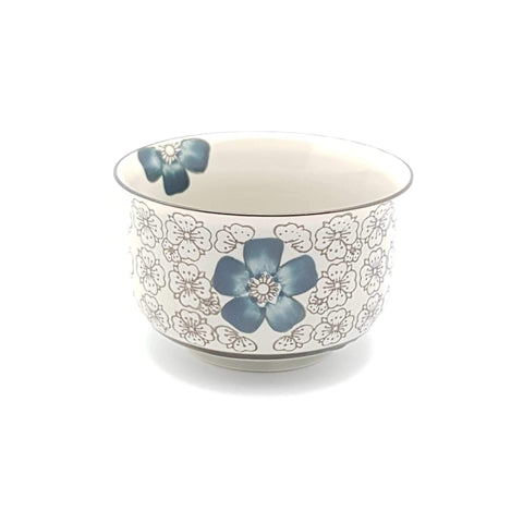TBI04K- Green Ceramics with Blue Flower Bowl - New Eastland Pty Ltd - Asian food wholesalers