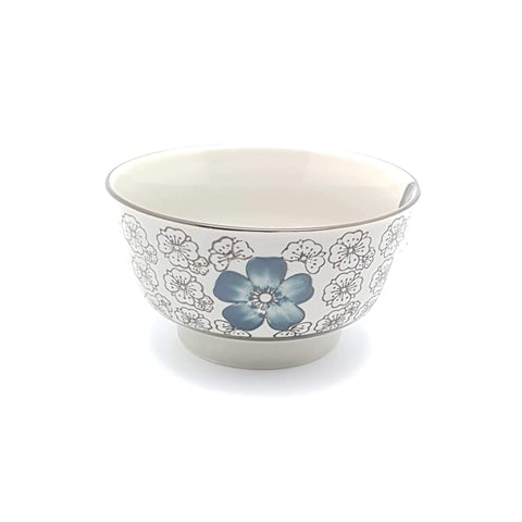 TBI05M - Green Ceramics with Blue Flowers Small Bowl - New Eastland Pty Ltd - Asian food wholesalers