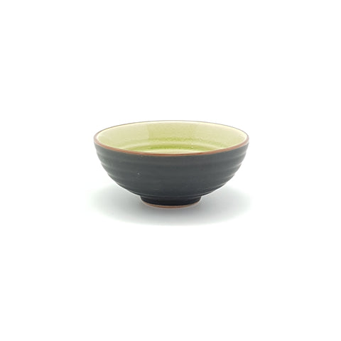 TBJS04.5 -  Ceramic Green Leaf Textured Bowl~ 4.5 INCHES - 12 pcs  / 1 Box - New Eastland Pty Ltd - Asian food wholesalers