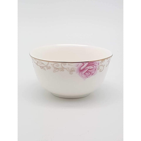 TBK03 -  Pink Rose Ceramic Sauce Bowl 3.5 Inches - New Eastland Pty Ltd - Asian food wholesalers