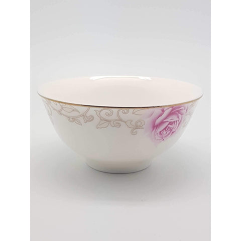 TBK04/05 -  Pink Rose Ceramic Sauce Bowl 4.5 - 5 Inches - New Eastland Pty Ltd - Asian food wholesalers