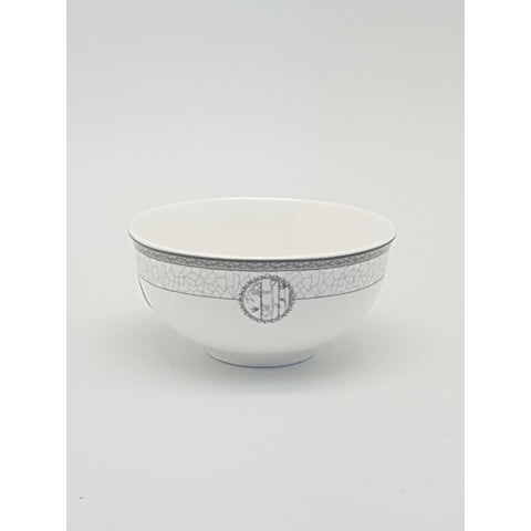 TBN03E - White Bamboo Ceramic Bowl ~3.5 inches- 24 Pieces / 1 Box - New Eastland Pty Ltd - Asian food wholesalers