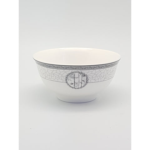 TBN04A - White Bamboo Ceramic Rice Bowl ~4.5 inches- 12 Pieces / 1 Box - New Eastland Pty Ltd - Asian food wholesalers