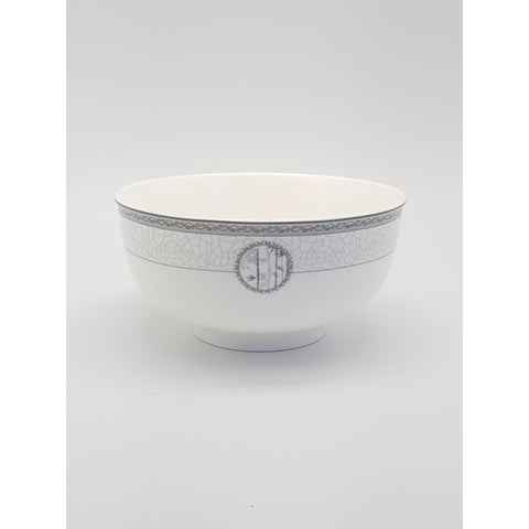 TBN06E/075E - White Bamboo Ceramic Bowl 6 - 7.5 inches - New Eastland Pty Ltd - Asian food wholesalers