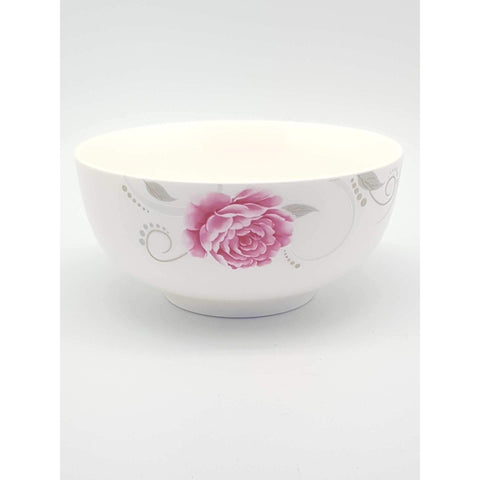 TBRP4A/5N/6N -  Pink Rose Ceramic Bowl 4.5 - 6 Inches - New Eastland Pty Ltd - Asian food wholesalers