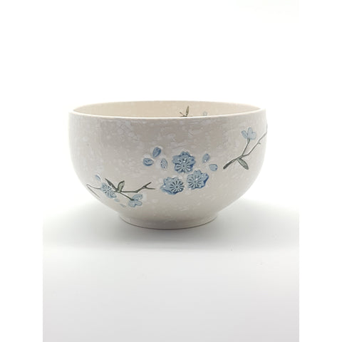 TBS06B -  White snow with Blue flowers Bowl ~6 Inches - 6 pcs  / 1 Box - New Eastland Pty Ltd - Asian food wholesalers