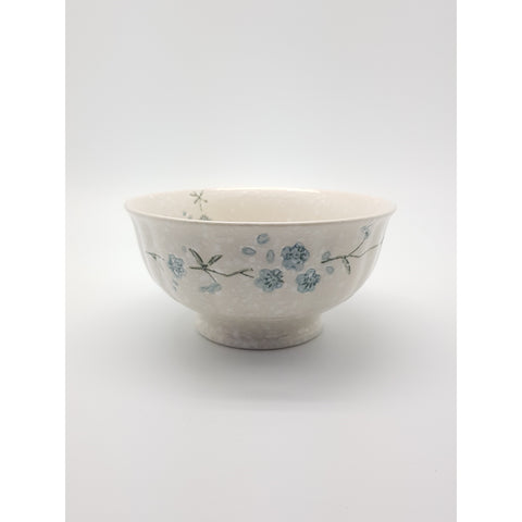 TBS06L -  White snow with Blue flowers Bowl ~6 Inches - 6 pcs  / 1 Box - New Eastland Pty Ltd - Asian food wholesalers