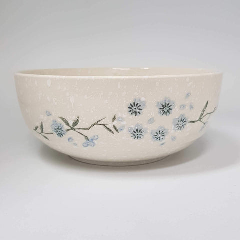 TBWSB002 -  White snow with Blue flowers Bowl - New Eastland Pty Ltd - Asian food wholesalers