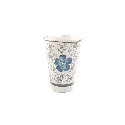 TC103 - Green Ceramics with Blue Flower Tea Cup - New Eastland Pty Ltd - Asian food wholesalers