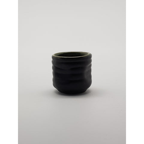 TCG01   - Green and Charcoal with Flower Sake Shot Glass~1.5 Inches - 10 pcs  / 1 Box - New Eastland Pty Ltd - Asian food wholesalers