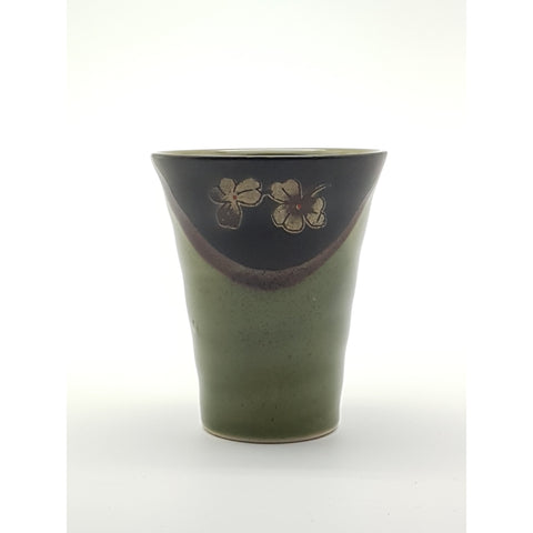 TCG03 - Green and Charcoal with Flower Cup~3 Inches - 12 pcs  / 1 Box - New Eastland Pty Ltd - Asian food wholesalers