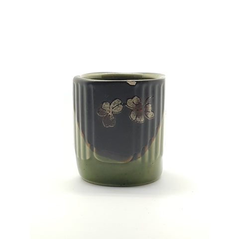 TCG04 - Green and Charcoal with Flower Tea Cup~2.5 Inches - 10 pcs  / 1 Box - New Eastland Pty Ltd - Asian food wholesalers