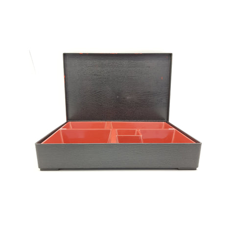 TFT938 - Japanese Red and Black Plastic Obento Box - 24 Pieces  / 1 Box - New Eastland Pty Ltd - Asian food wholesalers