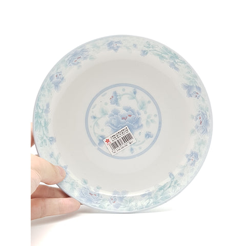 TP07F(B) - Chinese Blue Flower Ceramic Round Plate ~7 inches - 6 Pieces  / 1 Box - New Eastland Pty Ltd - Asian food wholesalers