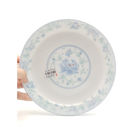 TP08F(B) - Chinese Blue Flower Ceramic Round Plate ~8 inches - 6 Pieces  / 1 Box - New Eastland Pty Ltd - Asian food wholesalers