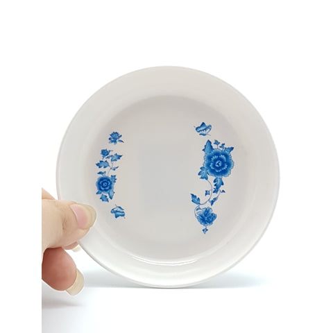 TP1007 - Simple Blue Flower Plastic Sauce Plate ~3 inches - 40 Pieces / 1 Box - New Eastland Pty Ltd - Asian food wholesalers