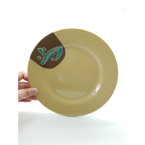 TP1010/105 - Brown Plastic Round Plate 10 - 10.5 Inches - New Eastland Pty Ltd - Asian food wholesalers