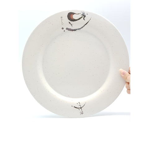 TP3097A - Japanese Oiishi Plastic Round Plate ~11 inches - 6 Pieces  / 1 Box - New Eastland Pty Ltd - Asian food wholesalers