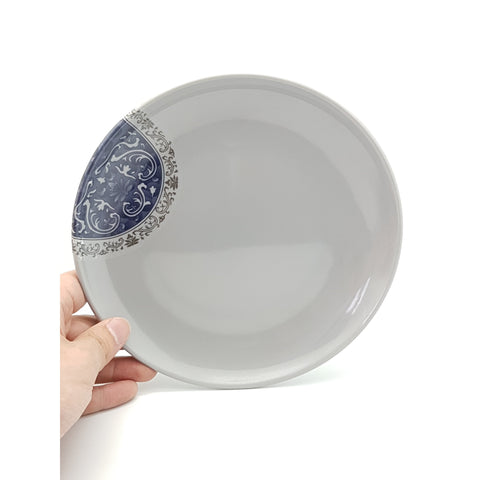 TP4908/4909/4910/4911 - Grey & Blue Plastic Small Circular Plate 8 - 11 Inches - New Eastland Pty Ltd - Asian food wholesalers