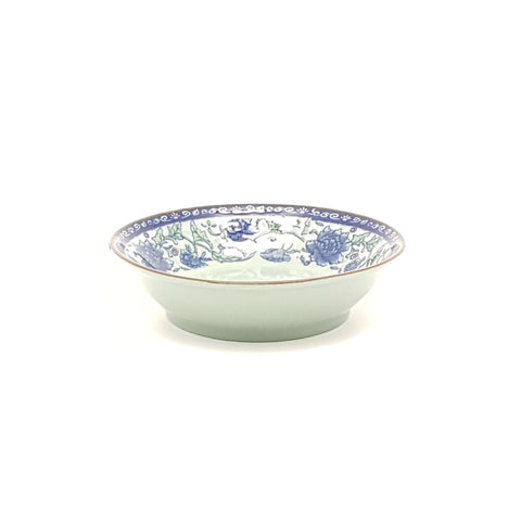 TPF04 - Dark Cyan/Blue Rose Ceramic Sauce Plate - 40 Pieces  / 1 Box - New Eastland Pty Ltd - Asian food wholesalers