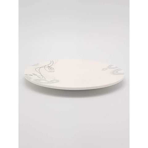 TPM07/10 -  Silver Vines Plate 7 - 10 Inches - New Eastland Pty Ltd - Asian food wholesalers